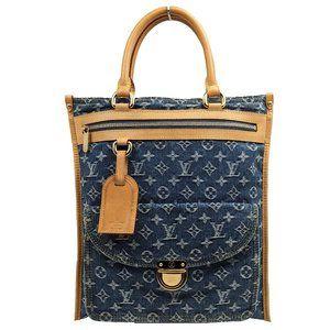 Louis Vuitton Blue Denim Sac Plat Handbag